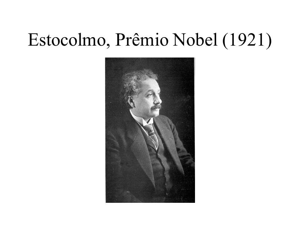 Estocolmo, Prêmio Nobel (1921)