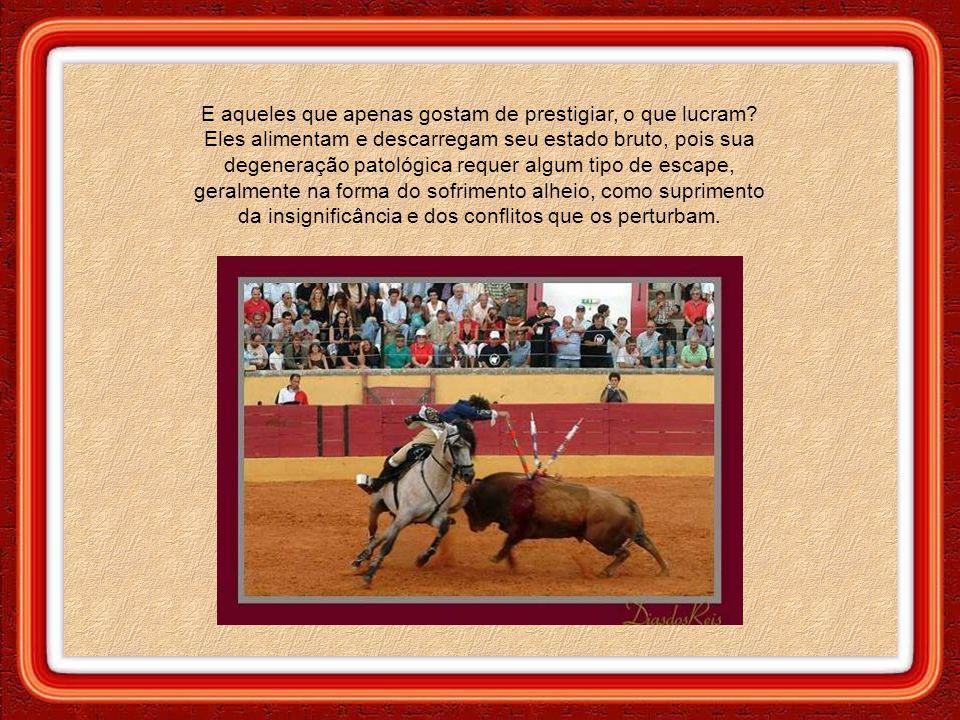 Mesmo aos olhos mais vendados, a tourada se exibe cruel e humilhante em todas as suas etapas.