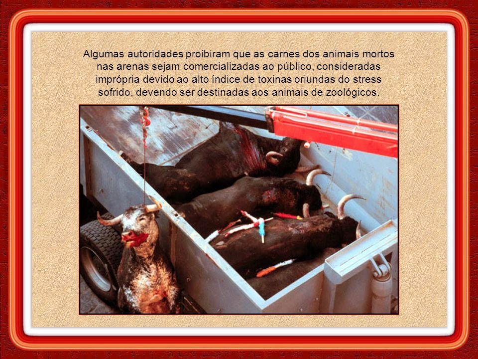 Países que realizam touradas, geralmente possuem pequena superfície territorial, necessitando importar parte do alimento que sua população consome. A