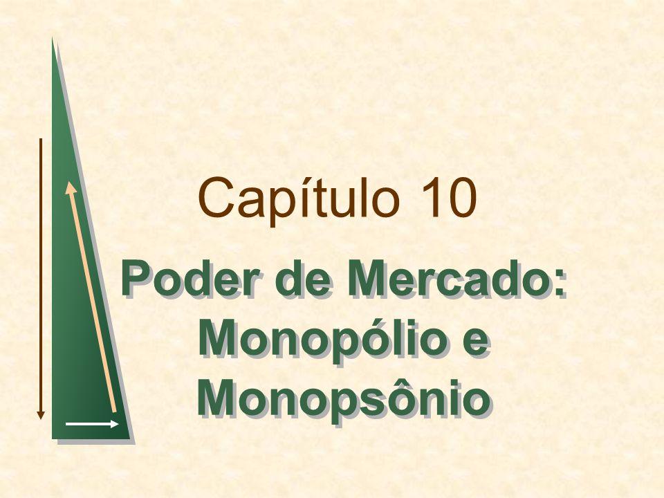 Capítulo 10 Poder de Mercado: Monopólio e Monopsônio Poder de Mercado: Monopólio e Monopsônio
