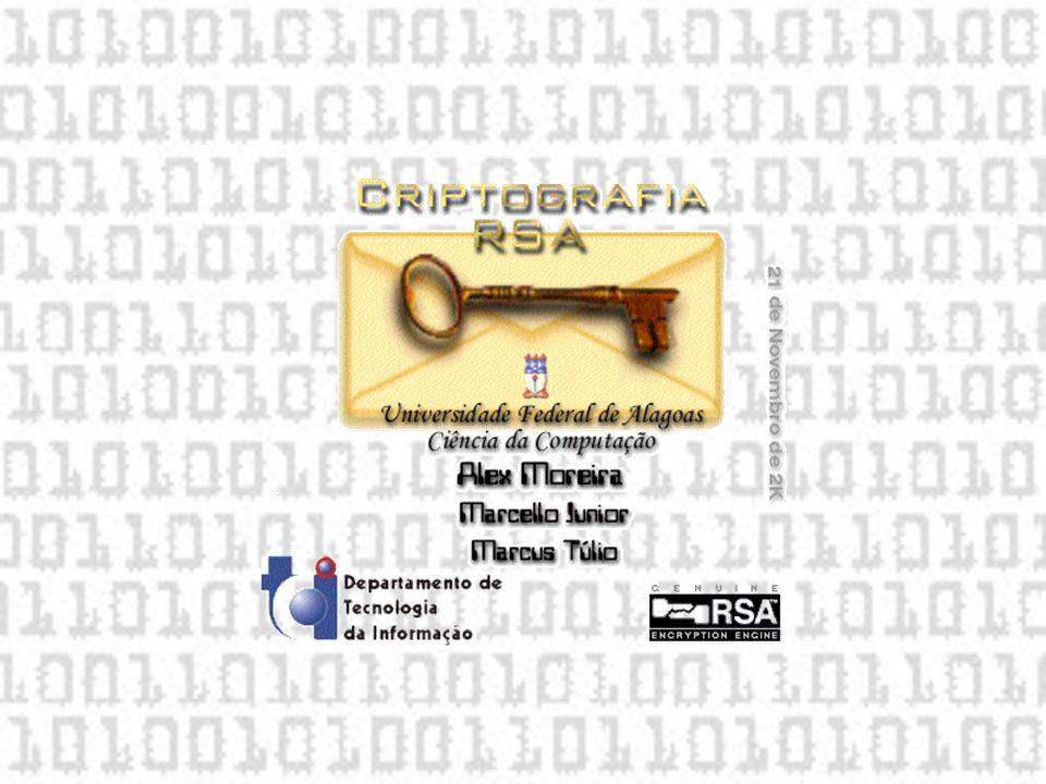 1.Introdução; 2. Inicialização da aplicação; 3. Gerando as Chaves do RSA; 4.
