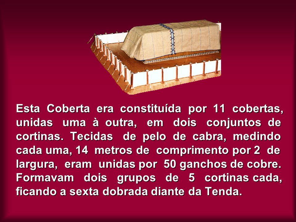 Esta Coberta era constituída por 11 cobertas, unidas uma à outra, em dois conjuntos de cortinas. Tecidas de pelo de cabra, medindo cada uma, 14 metros