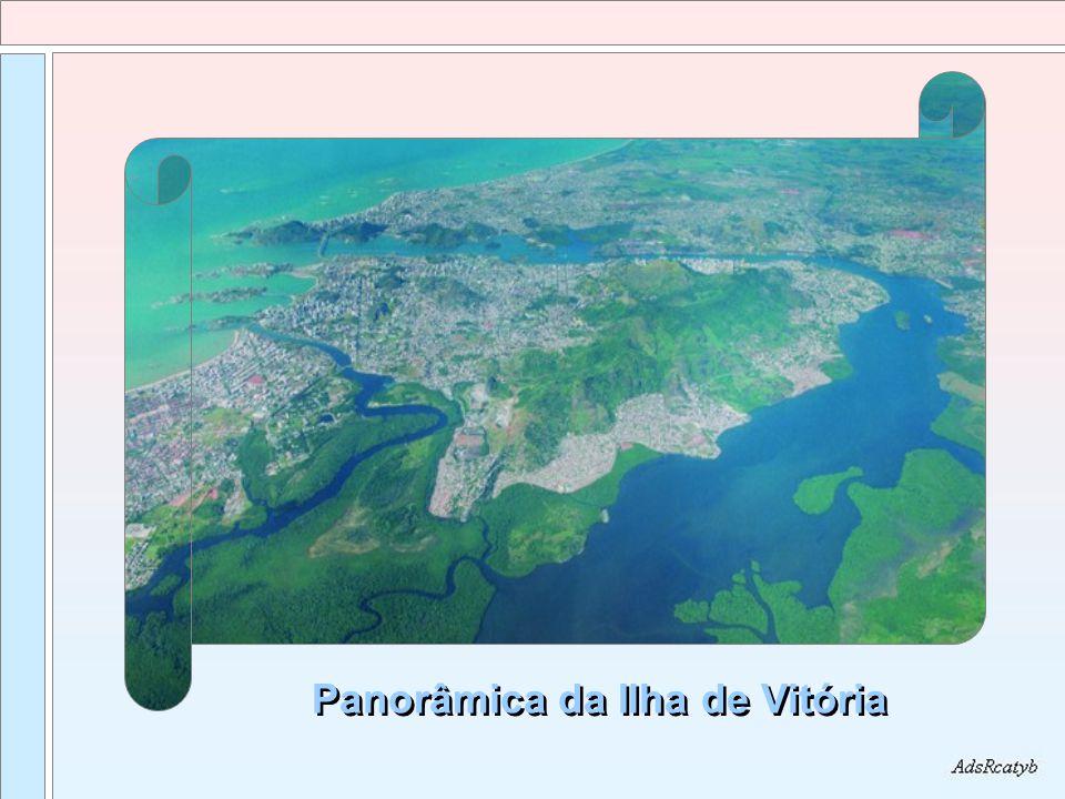 Vista da entrada do porto de Vitória