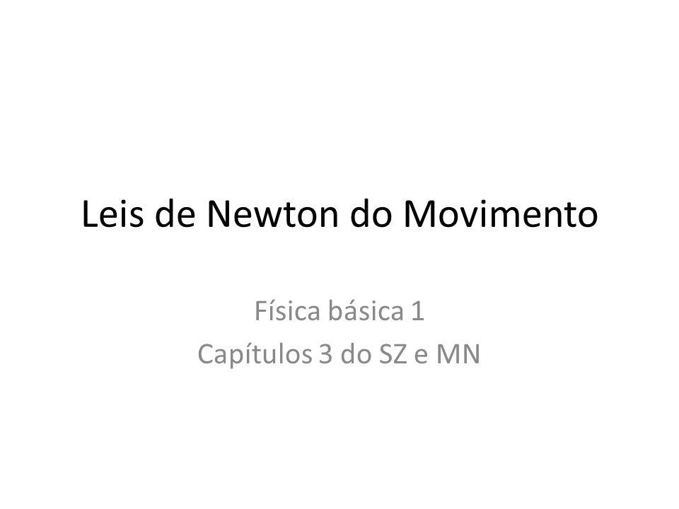 Conteúdo • Introdução • Forças e interações • Primeira Lei de Newton • Segunda Lei de Newton • Massa e peso • Terceira Lei de Newton • Diagramas de corpo livre