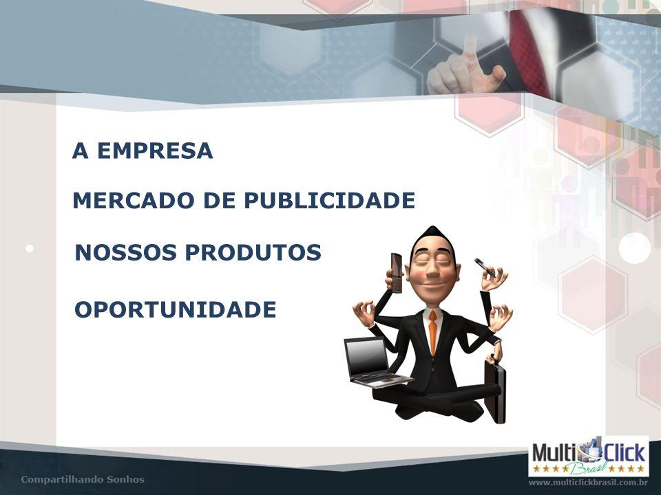 A EMPRESA Multiclick Brasil • Constituída por um grupo de investidores brasileiros • Sede Administrativa em Santa Catarina • Suporte completo aos afiliados • Resultados de excelência