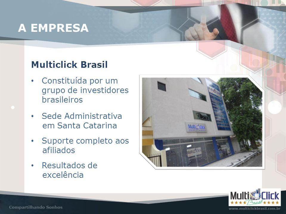 A EMPRESA Multiclick Brasil • Constituída por um grupo de investidores brasileiros • Sede Administrativa em Santa Catarina • Suporte completo aos afil