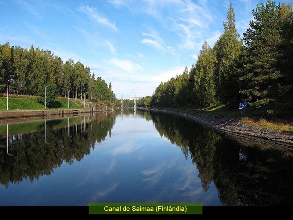 Conecta o Lago de Saimaa ao Golfo da Finlândia entre as cidades de Lappeenranta e Viborg, com uma descida de 76 m até o mar.