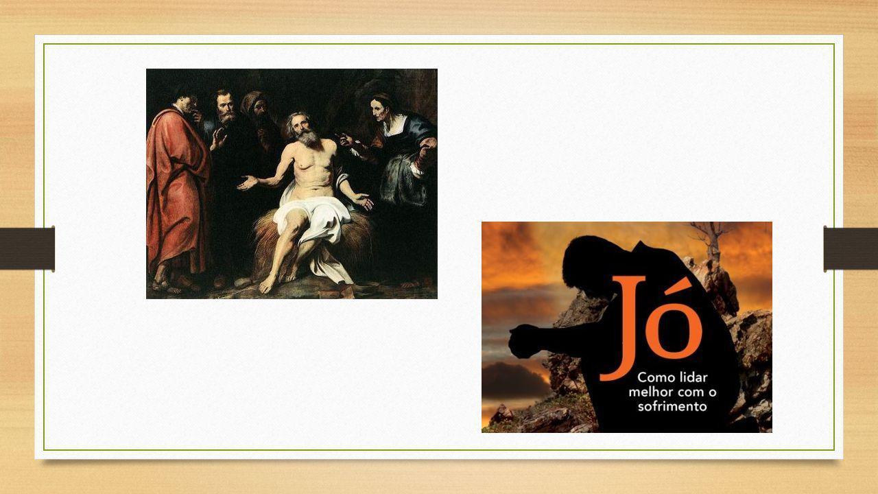 VISÃO PANORÂMICA DA BÍBLIA – Livro de Jó TÍTULO – Como Rute e Ester, o título homenageia o herói do livro – Jó – cujo nome, em hebraico, yob significa o odiado, o perseguido .
