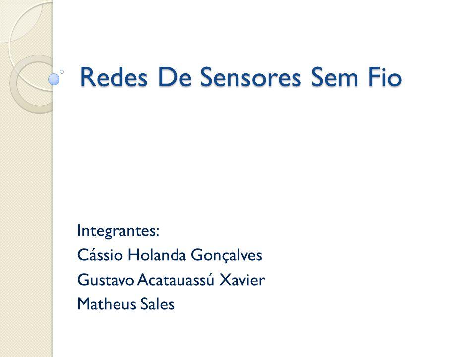 Redes De Sensores Sem Fio Integrantes: Cássio Holanda Gonçalves Gustavo Acatauassú Xavier Matheus Sales