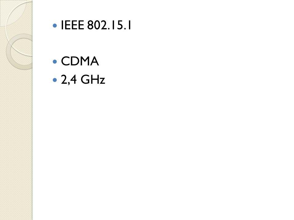  IEEE 802.15.1  CDMA  2,4 GHz
