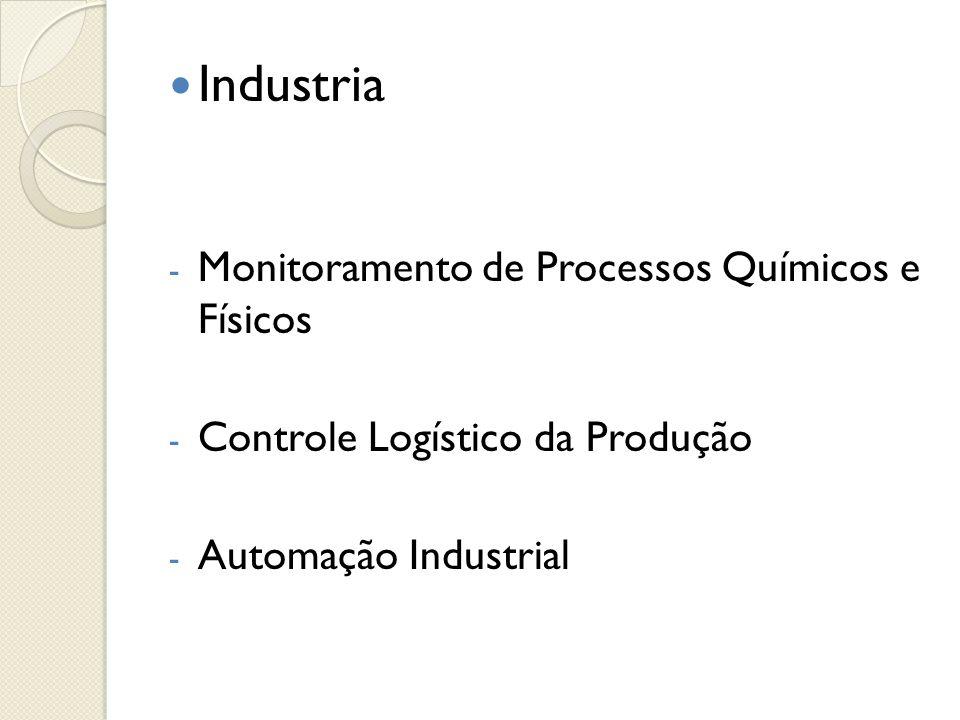  Industria - Monitoramento de Processos Químicos e Físicos - Controle Logístico da Produção - Automação Industrial