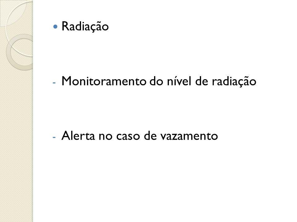  Radiação - Monitoramento do nível de radiação - Alerta no caso de vazamento