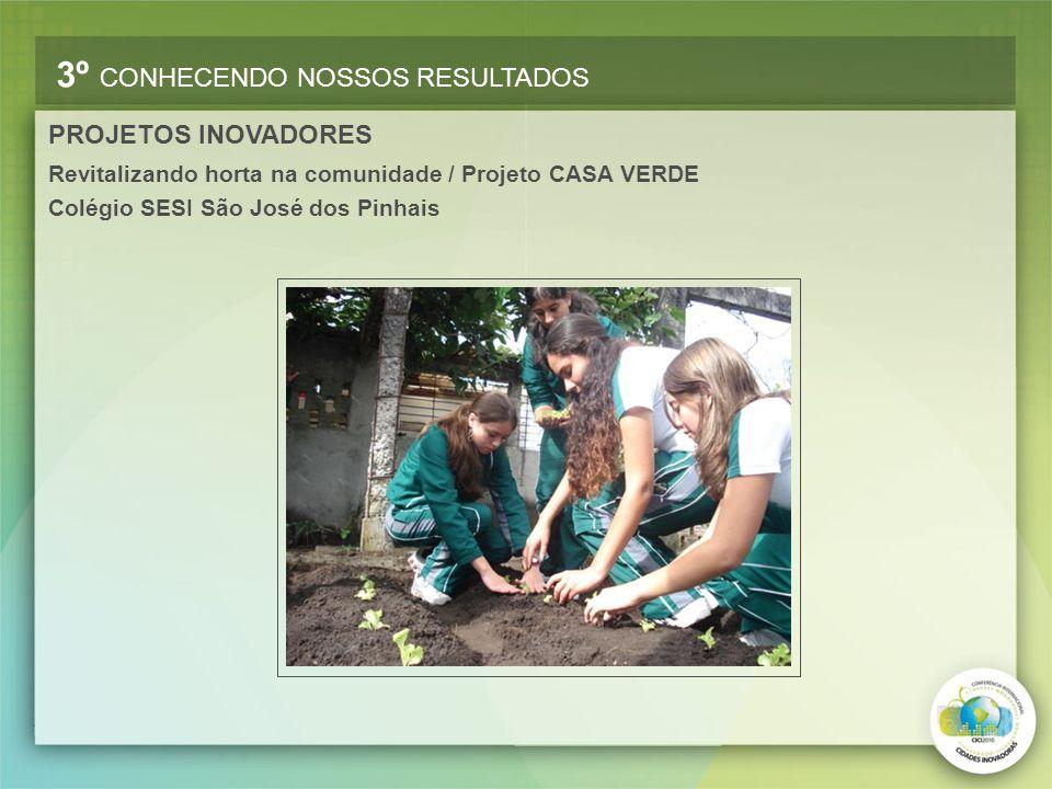 Revitalizando horta na comunidade / Projeto CASA VERDE Colégio SESI São José dos Pinhais 3º CONHECENDO NOSSOS RESULTADOS PROJETOS INOVADORES