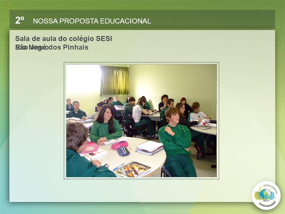 Sala de aula do colégio SESI São José dos Pinhais Sala de aula do colégio SESI Rio Negro
