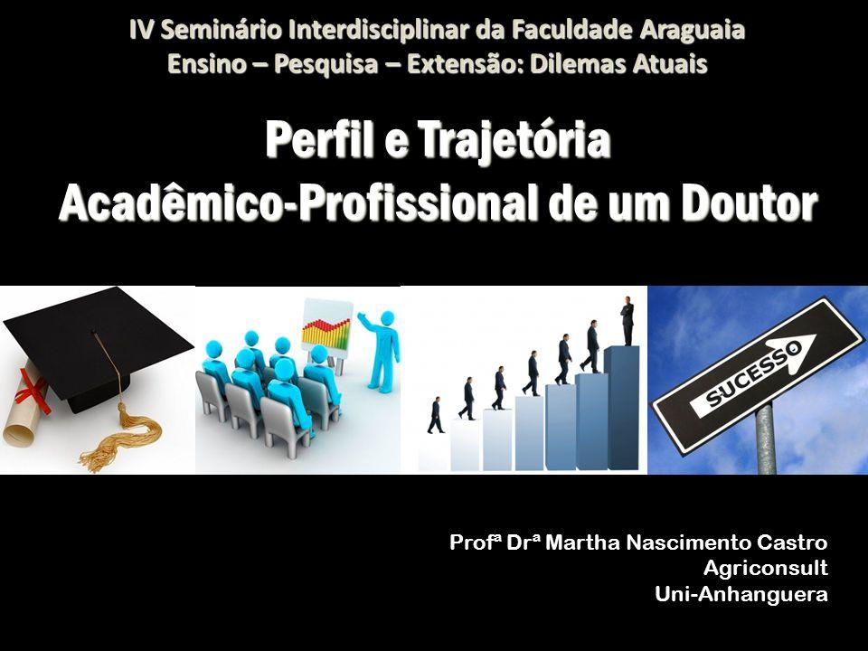 Perfil e Trajetória Acadêmico-Profissional de um Doutor Profª Drª Martha Nascimento Castro Agriconsult Uni-Anhanguera IV Seminário Interdisciplinar da