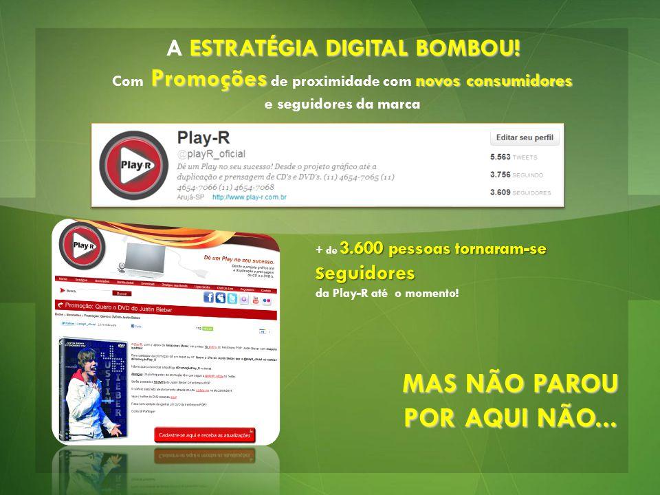 ESTRATÉGIA DIGITAL BOMBOU! A ESTRATÉGIA DIGITAL BOMBOU! Promoções novos consumidores Com Promoções de proximidade com novos consumidores e seguidores
