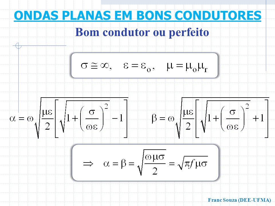 Bom condutor ou perfeito ONDAS PLANAS EM BONS CONDUTORES Franc Souza (DEE-UFMA)