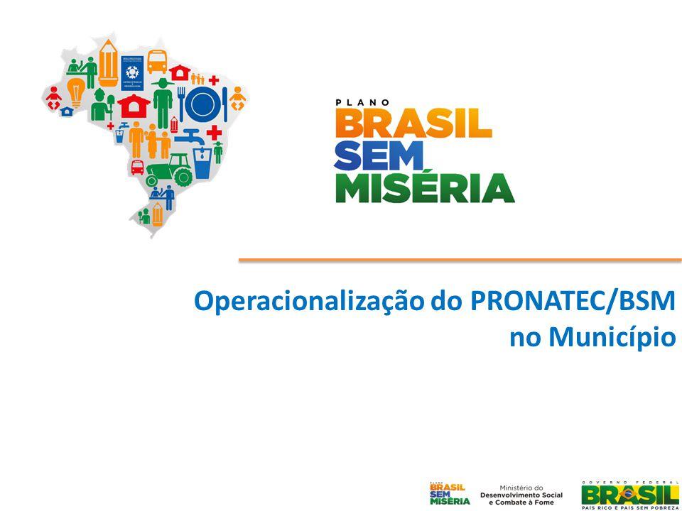 Operacionalização do PRONATEC/BSM no Município