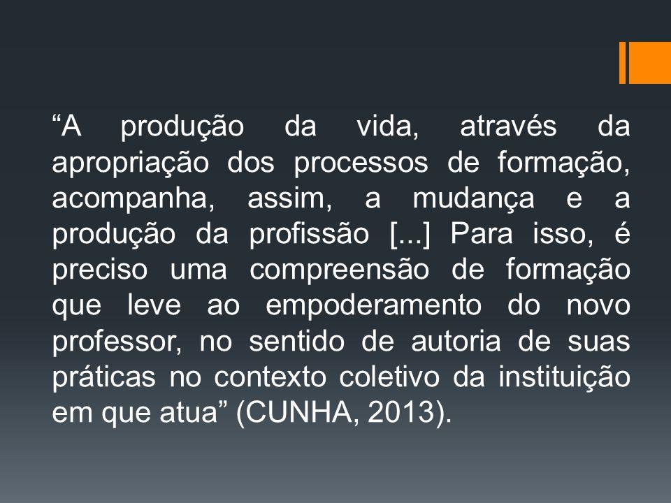 """""""A produção da vida, através da apropriação dos processos de formação, acompanha, assim, a mudança e a produção da profissão [...] Para isso, é precis"""