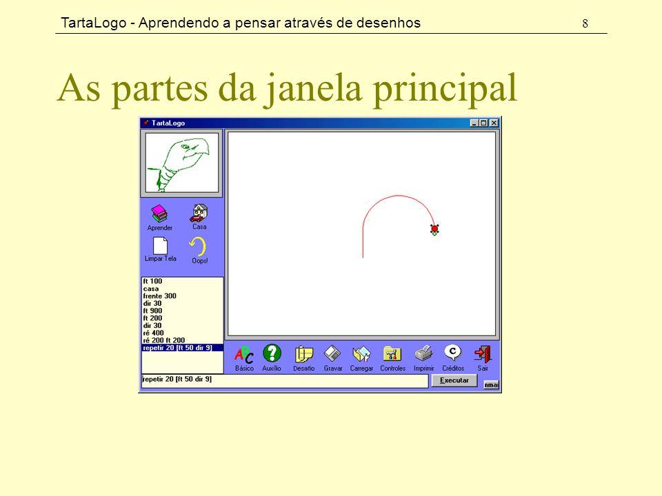 TartaLogo - Aprendendo a pensar através de desenhos 8 As partes da janela principal