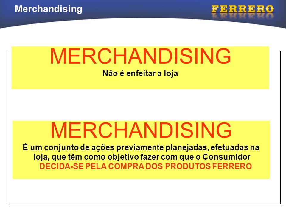 Merchandising MERCHANDISING Não é enfeitar a loja MERCHANDISING É um conjunto de ações previamente planejadas, efetuadas na loja, que têm como objetiv