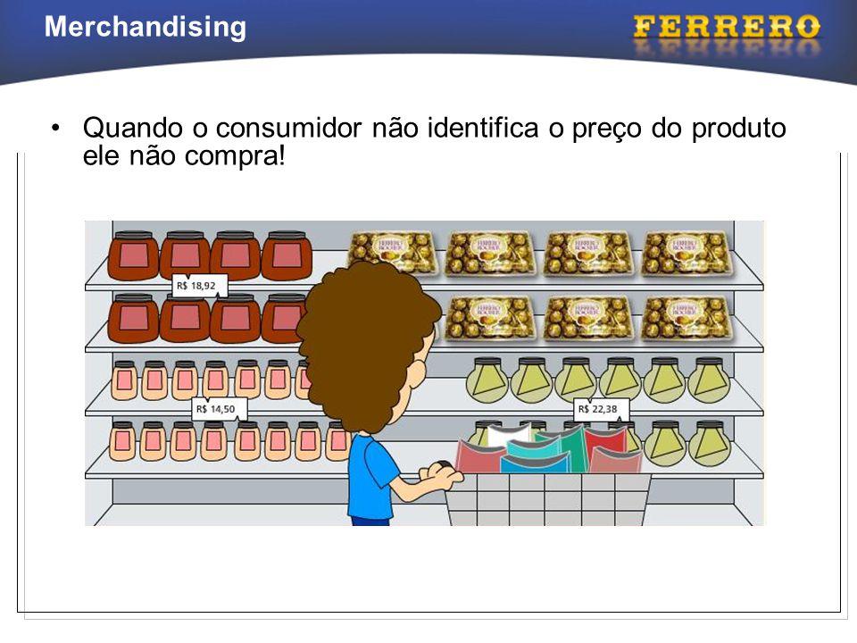 Merchandising •Quando o consumidor não identifica o preço do produto ele não compra!