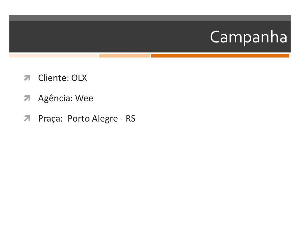 Campanha  Cliente: OLX  Agência: Wee  Praça: Porto Alegre - RS