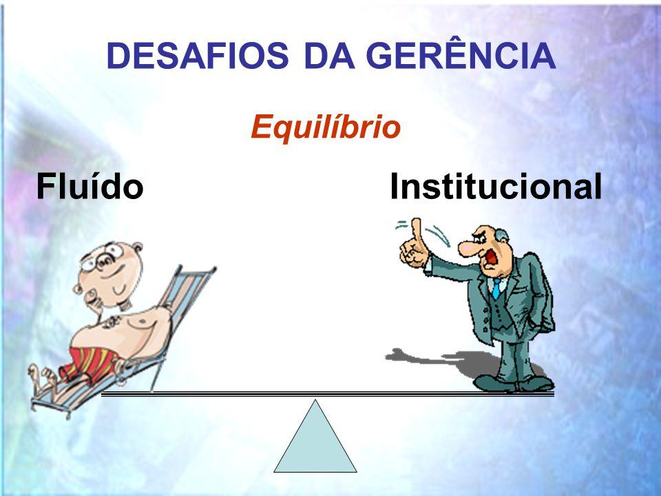 DESAFIOS DA GERÊNCIA Equilíbrio FluídoInstitucional