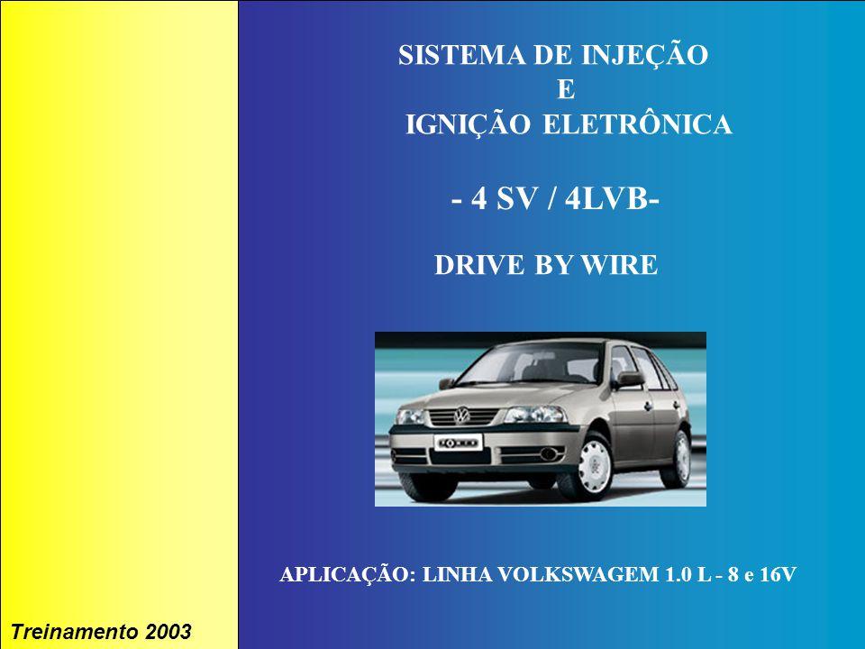 1A. TÉCNICA - 2002 - FORMAÇÃO Treinamento 2003 IAW 4LVB SISTEMA DE INJEÇÃO E IGNIÇÃO ELETRÔNICA - 4 SV / 4LVB- DRIVE BY WIRE APLICAÇÃO: LINHA VOLKSWAG