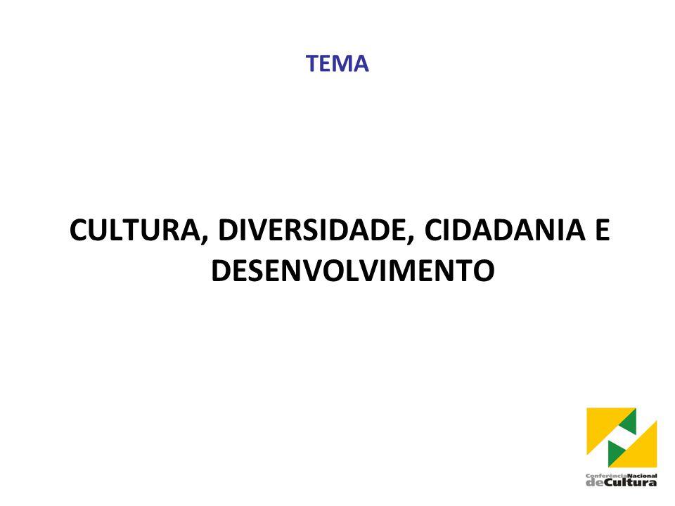 TEMA CULTURA, DIVERSIDADE, CIDADANIA E DESENVOLVIMENTO