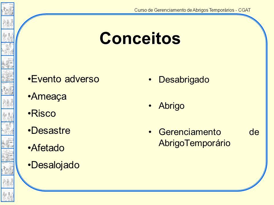 Curso de Gerenciamento de Abrigos Temporários - CGAT Prenúncio ou indício de um evento desastroso.