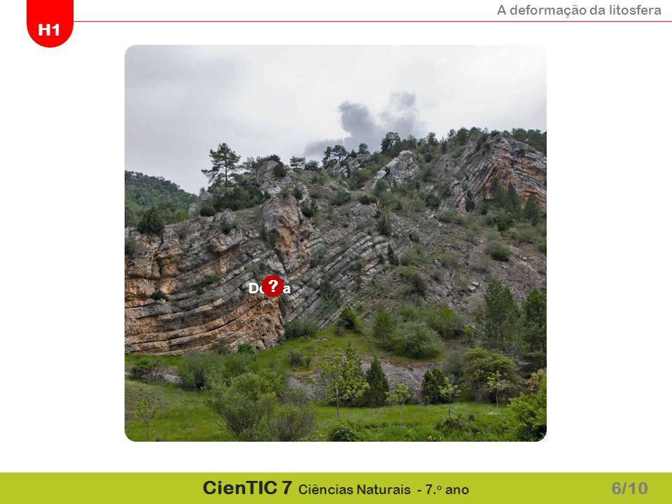 A deformação da litosfera H1 CienTIC 7 Ciências Naturais - 7.