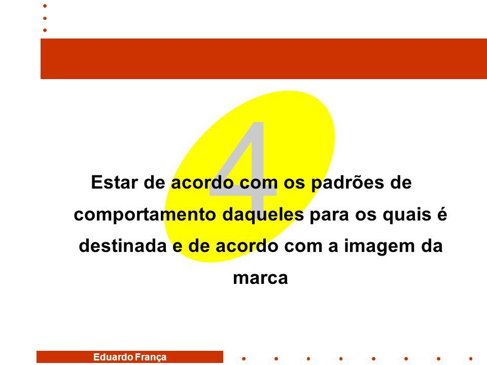 Eduardo França 4 Estar de acordo com os padrões de comportamento daqueles para os quais é destinada e de acordo com a imagem da marca