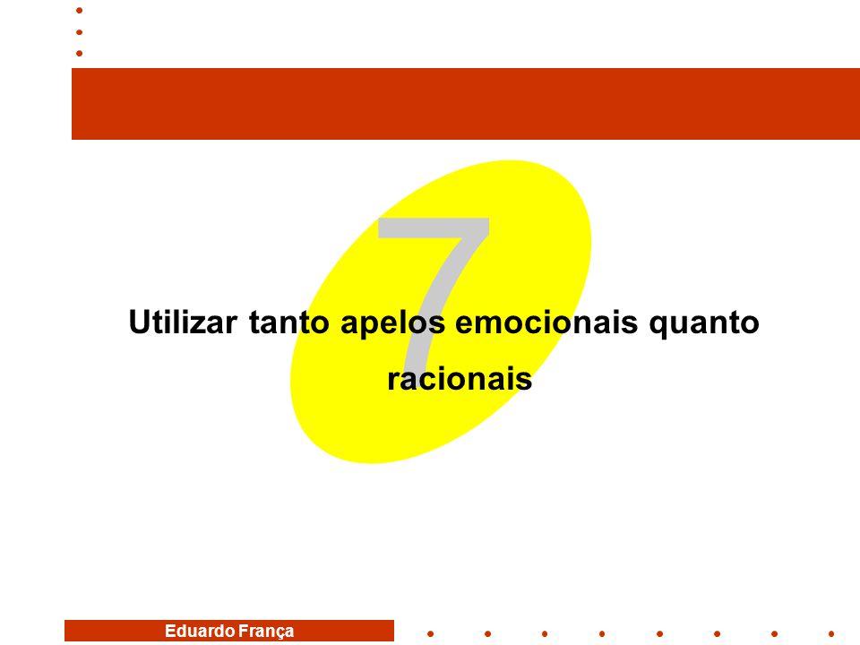 Eduardo França 7 Utilizar tanto apelos emocionais quanto racionais