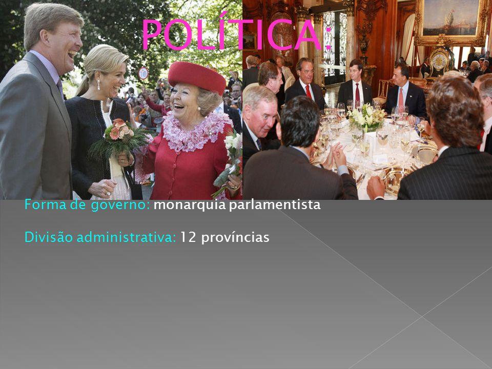 POLÍTICA: Forma de governo: monarquia parlamentista Divisão administrativa: 12 províncias