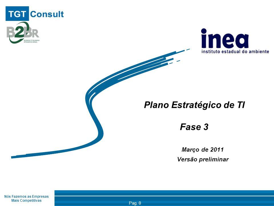 Nós Fazemos as Empresas Mais Competitivas Pag. 0 Plano Estratégico de TI Fase 3 Março de 2011 Versão preliminar