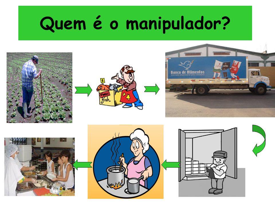 Os produtos de higiene e limpeza devem ser separados dos alimentos e descartáveis.
