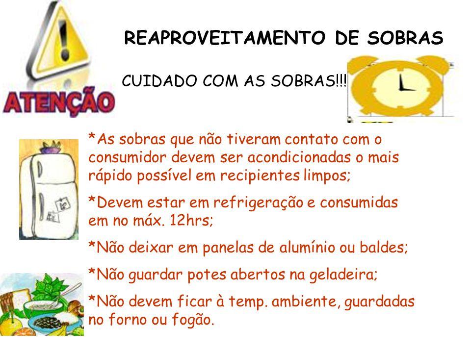 REAPROVEITAMENTO DE SOBRAS CUIDADO COM AS SOBRAS!!.