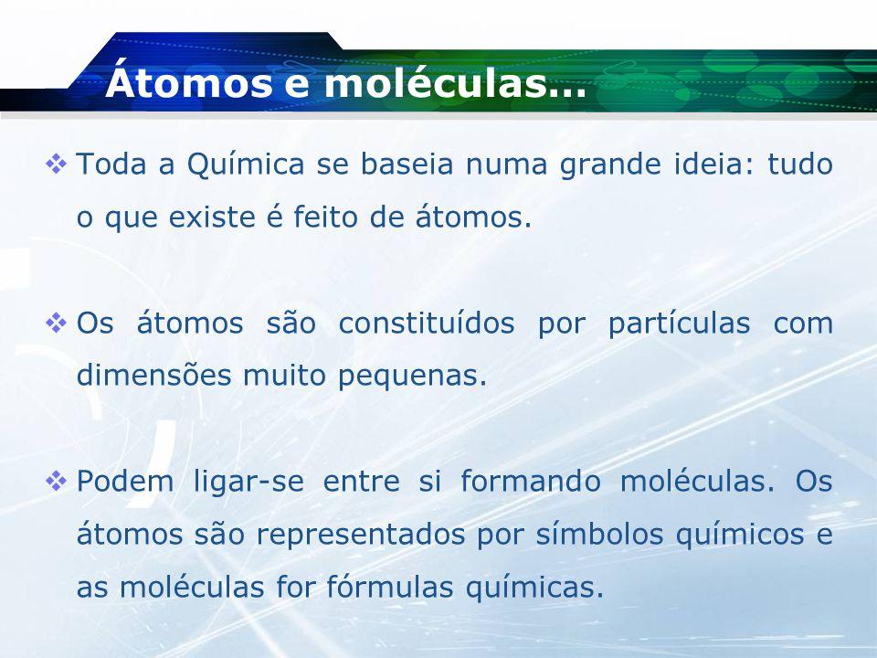 Átomo…  Durante muito tempo, o átomo não era mais do que uma ideia que a comunidade científica acabou por aceitar, uma vez que, ninguém tinha visto um átomo.