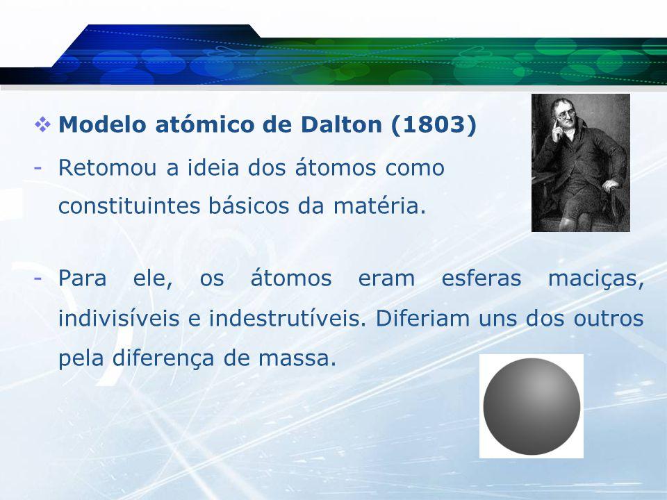 -Dalton, foi o primeiro cientista a propor uma série de símbolos para representar os elementos químicos então à data conhecidos.