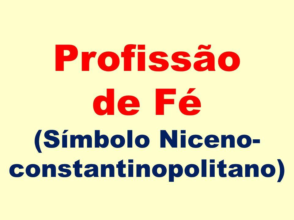Profissão de Fé (Símbolo Niceno- constantinopolitano)