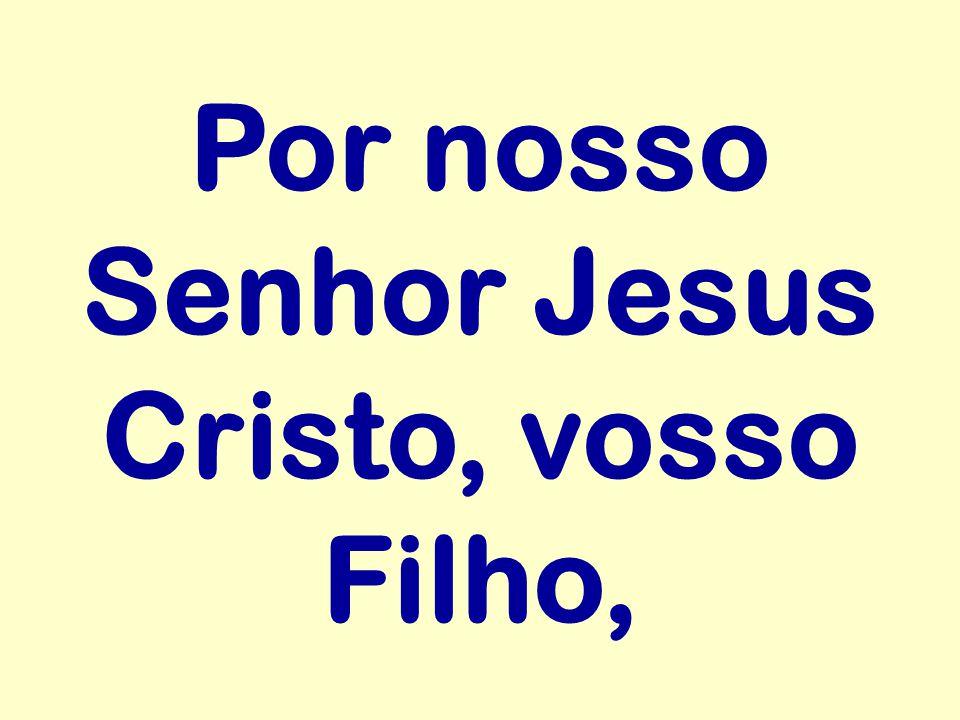 Por nosso Senhor Jesus Cristo, vosso Filho,
