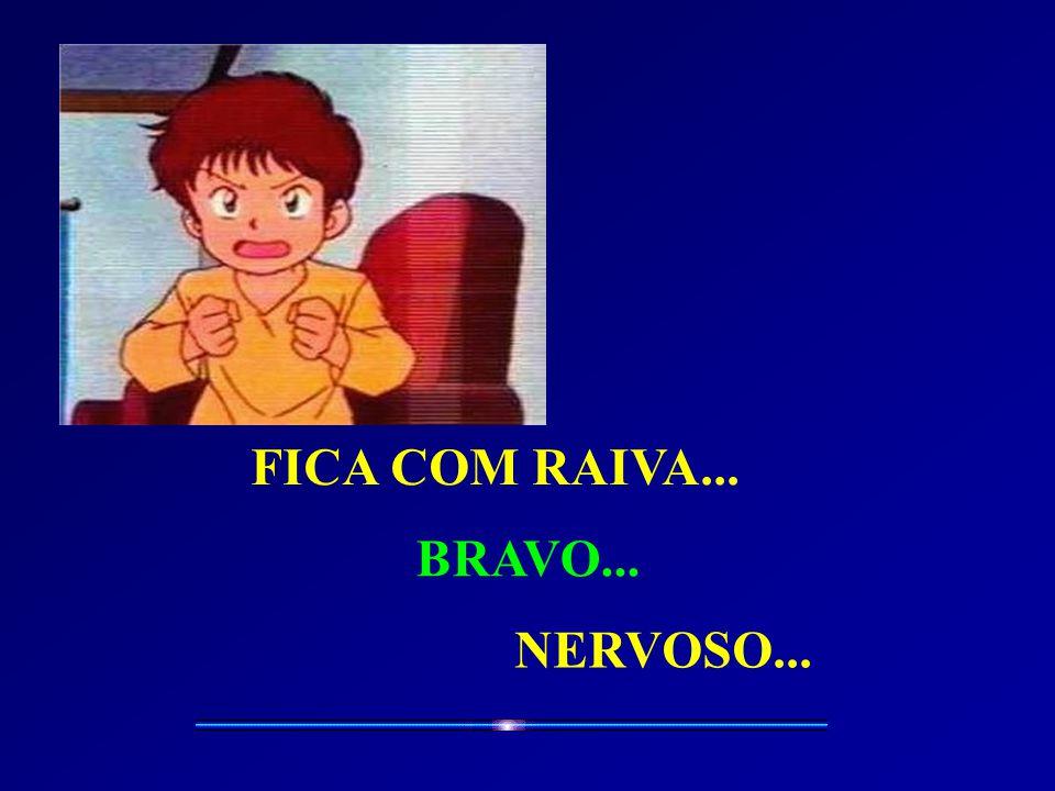 FICA COM RAIVA... BRAVO... NERVOSO...