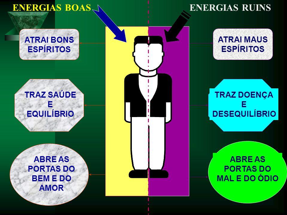 ENERGIAS BOAS ATRAI BONS ESPÍRITOS TRAZ SAÚDE E EQUILÍBRIO ABRE AS PORTAS DO BEM E DO AMOR ENERGIAS RUINS ATRAI MAUS ESPÍRITOS TRAZ DOENÇA E DESEQUILÍ