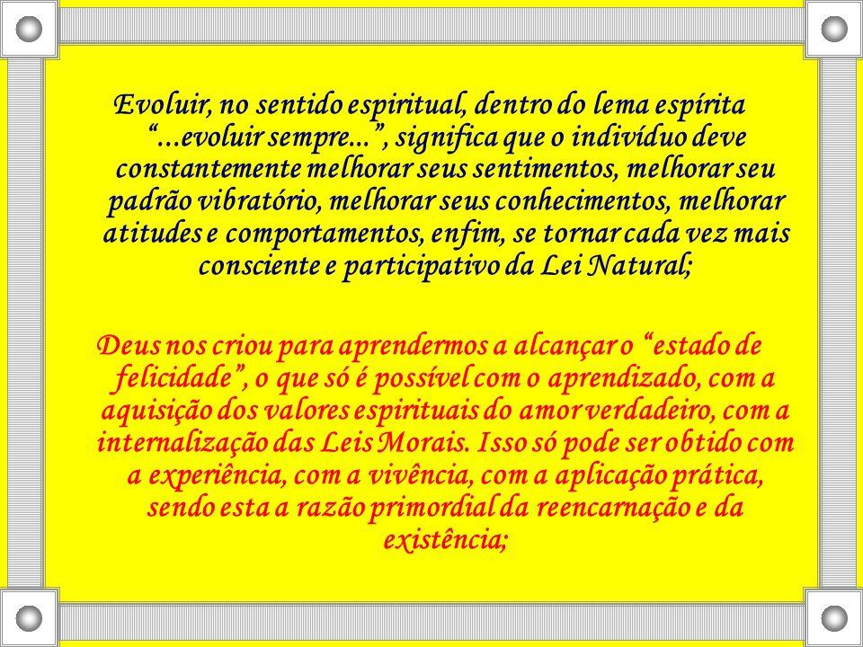 """Evoluir, no sentido espiritual, dentro do lema espírita """"...evoluir sempre..."""", significa que o indivíduo deve constantemente melhorar seus sentimento"""