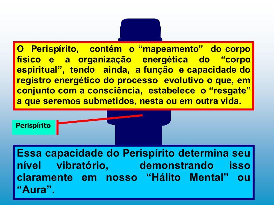 """O Perispírito, contém o """"mapeamento"""" do corpo físico e a organização energética do """"corpo espiritual"""", tendo ainda, a função e capacidade do registro"""