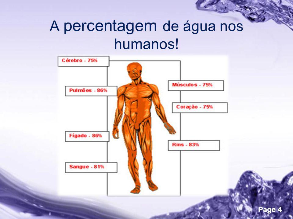 Powerpoint Templates Page 4 A percentagem de água nos humanos!