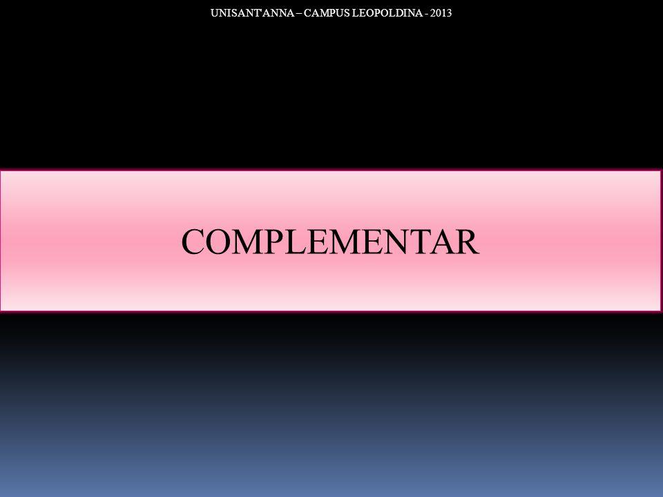 UNISANT'ANNA – CAMPUS LEOPOLDINA - 2013 COMPLEMENTAR
