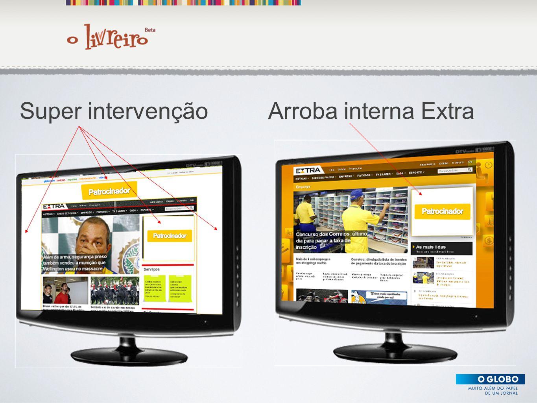 Texto Super intervençãoArroba interna Extra