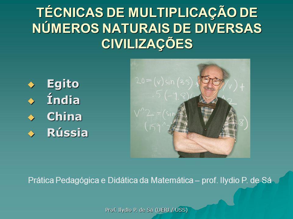 Nessa apresentação iremos mostrar algumas curiosas técnicas para a multiplicação de dois números naturais, colhidas ao longo da história da matemática.
